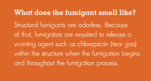 Fumigation Smells Like Tear Gas