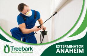 Some Guy Spraying Bugs with a Treebark Logo and Exterminator Anaheim